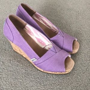 Toms Stella wedge in purple